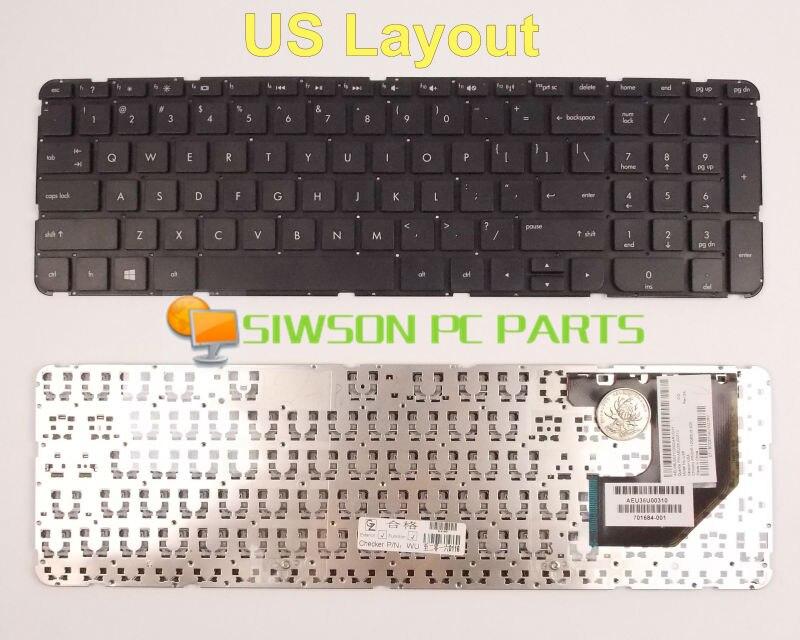Nuevo teclado versión ee.uu. para HP Pavilion TouchSmart Sleekbook 15U 15T 15Z 15-B 15z-b000 15T-B000 sin marco