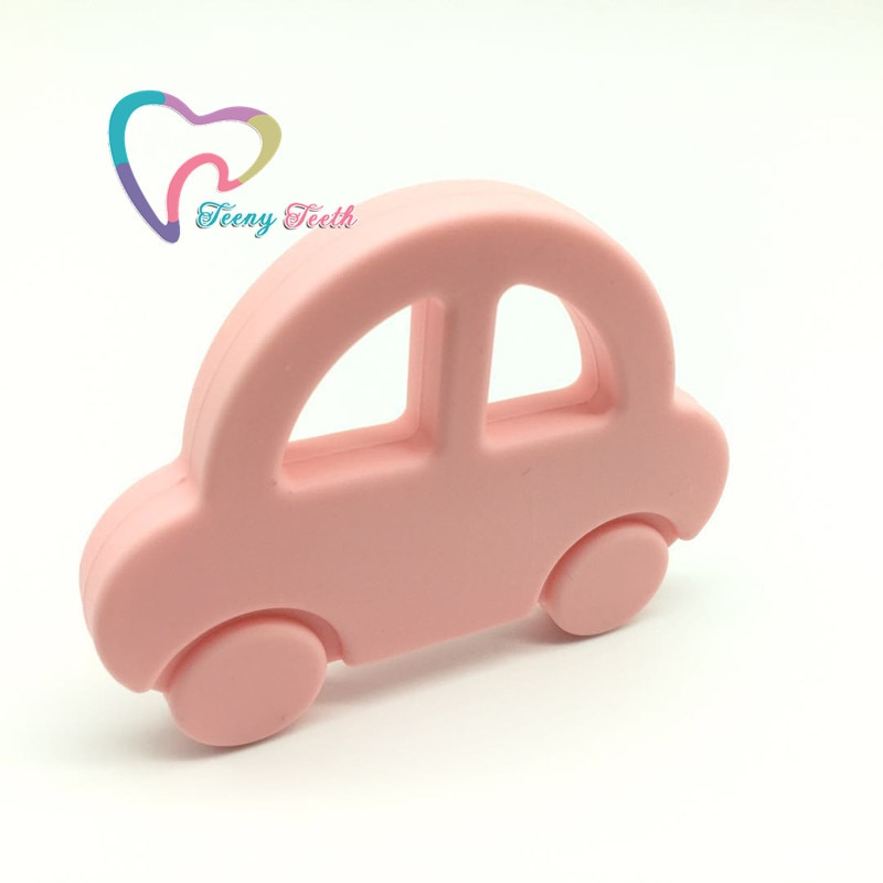 Teeny Teeth 10 PCS Silicone Car Teether Pendants,Car teething toys,Silicone car shape chomp toys pendants for baby DIY items