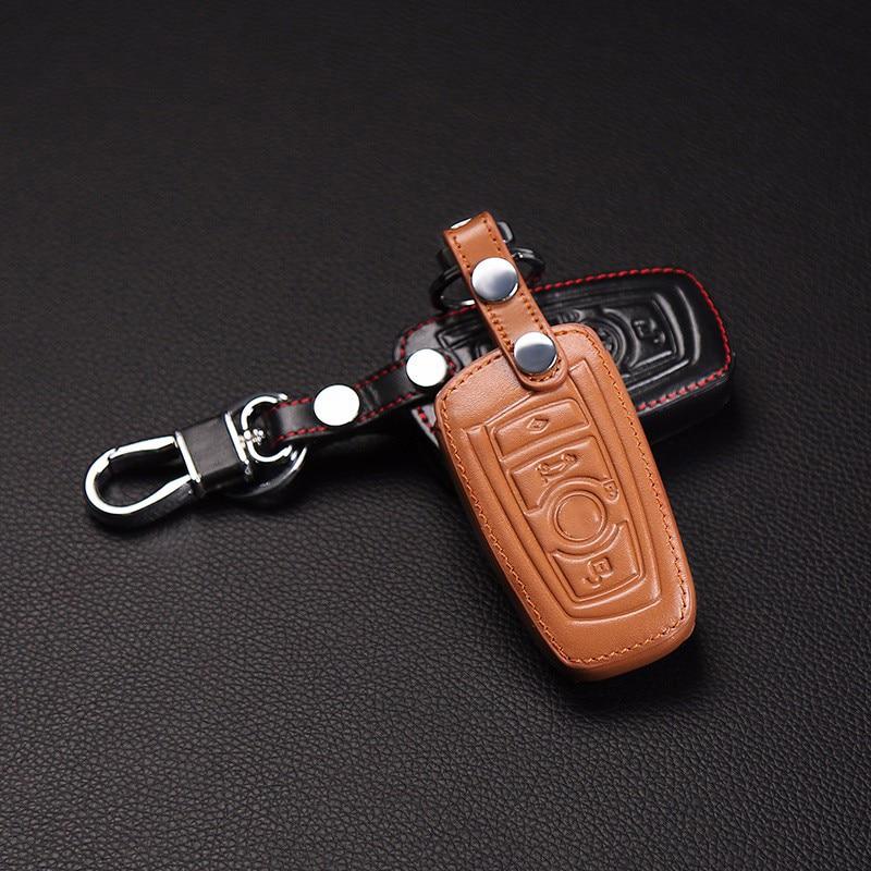 Высокое качество 100% кожаный ящик для ключей для M1 M2 M3 F10 F20 F30 X1 X6 X5 BMW E90 3 5 7 пылеуловитель, 3 кнопки чехол для ключей автомобиля