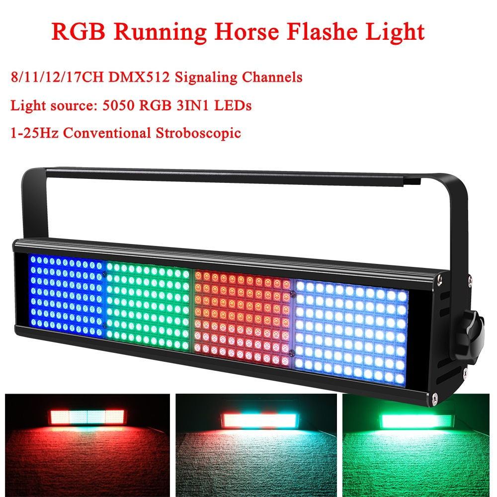 100W DMX512 RGB 3IN1 Color LED Disco DJ Running Horse Flashe Light Party Holiday Christmas Bar KTV Wedding Stage Lighting Effect disco dj light co2 gun pistola co2 rgb gun co2 airsoft air guns jet machine for christmas halloween wedding party stage effect