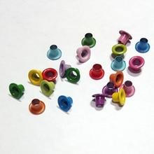 500pcs 3mm Inner Mix Color Optional Metal Eyelet Scrapbook Embellishment Garment Clothe Paper Card Craft Invitation Bag Shoe DIY