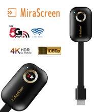 Mirascreen voiture maison miroir écran wifi affichage 5G 2.4G 4K 1080P sans fil HDMI Miracast Android tv stick chromecast/Airplay cast