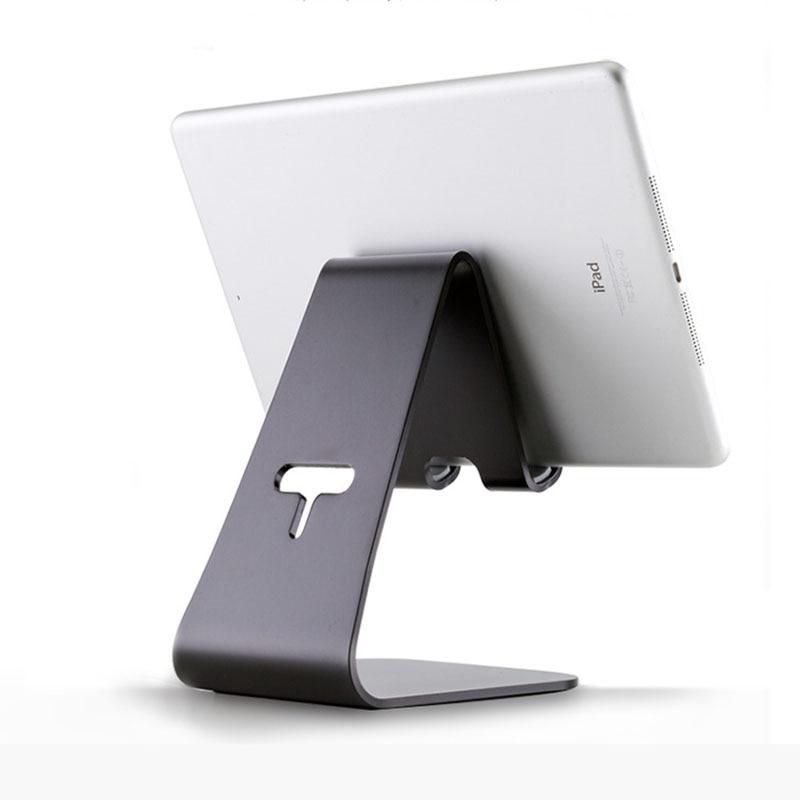 Soporte de aluminio para tableta para iPhone iPad Mini Air 1 2 Pro12.9 ajuste Flexible 4-13 pulgadas soporte para samsung Huawei montaje