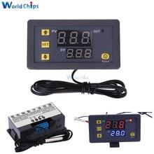 W3230 التيار المتناوب 110 فولت-220 فولت DC12V 24 فولت ترموستات رقمي متحكم في درجة الحرارة منظم التدفئة التبريد أدوات التحكم LED العرض