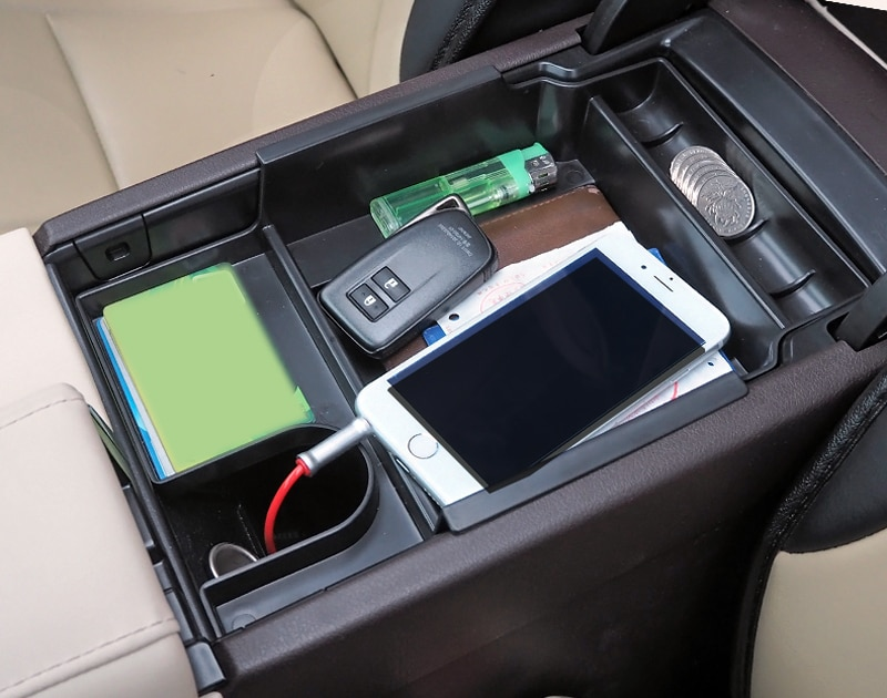 Organizador de guantera para almacenamiento de apoyabrazos Central, accesorios de coche para Lexus RX 270 350 2016 2017, diseño de coche