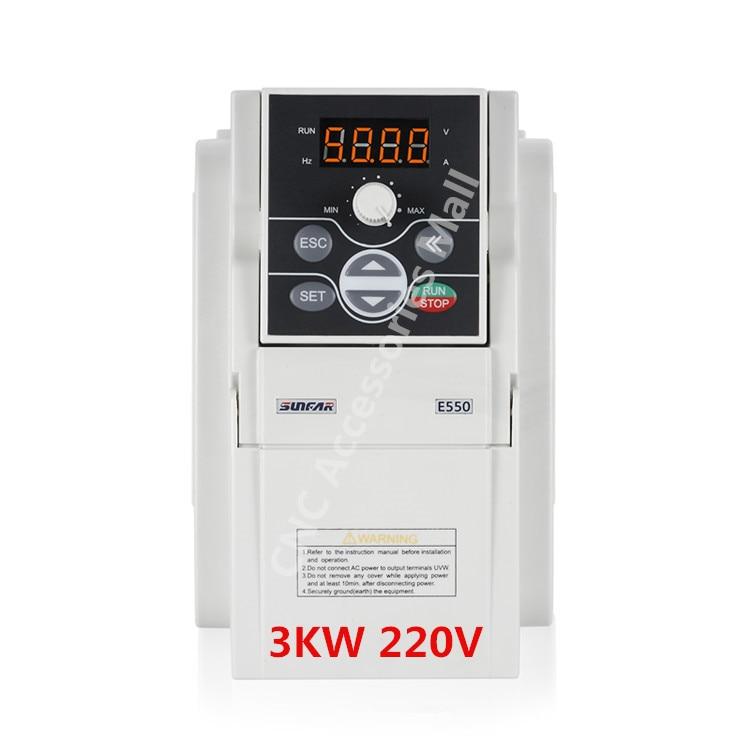E550 Original AC220V Frequency Inverter E550-2S0030B VFD Inverter 3kw 1000HZ with RS485 interface, support MODBUS
