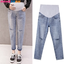 Mom denim overall trousers grossesse Women Jeans Pregnant harem Prop Pants Clothing For maternity Cl
