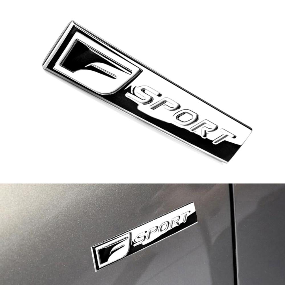 F SPORT Emblem Car Side Body Insignia Sticker 3D ABS Letters Trim Decal For Lexus RC F LFA CT ES GS GX IS LC LS LX NX RC RX CS
