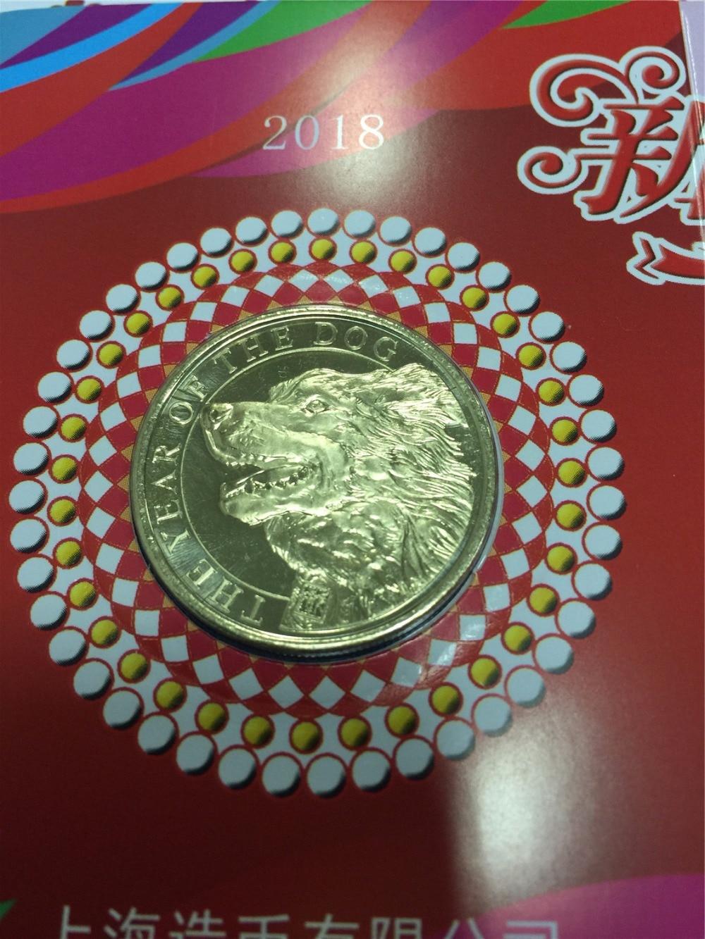 25mm el año del perro SHANGHAI Mint China moneda medalla regalo 2018