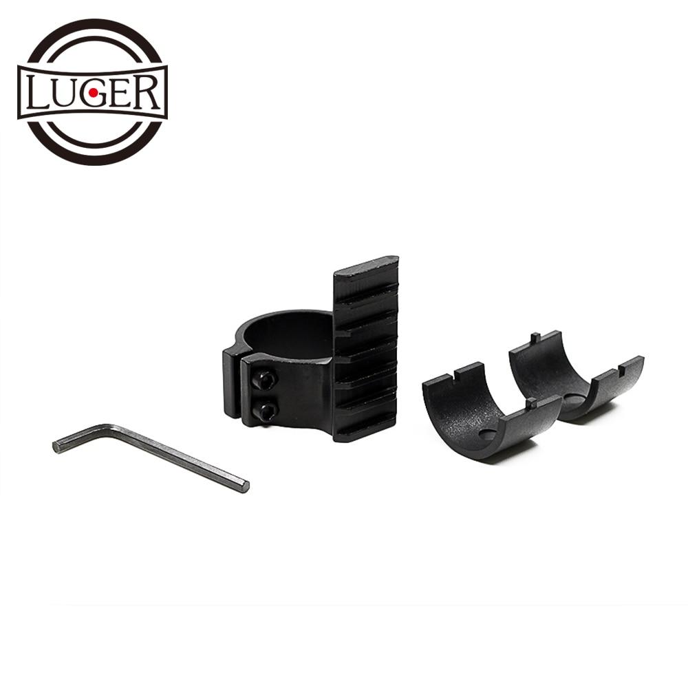 "LUGER caza Riflescope montaje de barril 1 ""/25,4mm 30mm anillo adaptador con 20mm Weaver Picatinny riel Scope Accesorios"