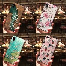 3D Relief Blume Telefon Fall Für Huawei Nova 3 3i 4 2 Lite Y5 Y7 Prime Y6 Pro Y9 2018 2019 für Honor 6A 7A 7S 7X 8A 8X 9 10 Lite