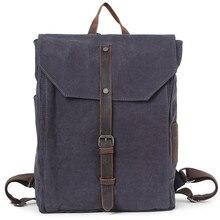 Vintage Canvas Leather Backpack, Hiking Daypacks, Computers Laptop Backpacks, Unisex Casual Rucksack Satchel Bookbag