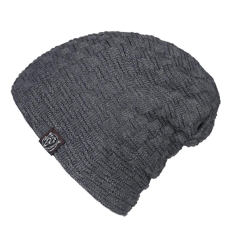 Gorros holgados de gran tamaño gorros holgados de lana con forro polar para hombre negro Beige gris oscuro rojo gorra