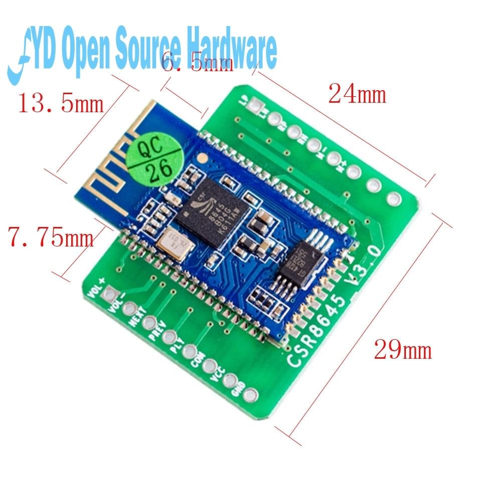 1 stücke Bluetooth 4,0 CSR8645 Verstärker Bord 5W + 5W APT-X Stereo Empfänger Amp Modul
