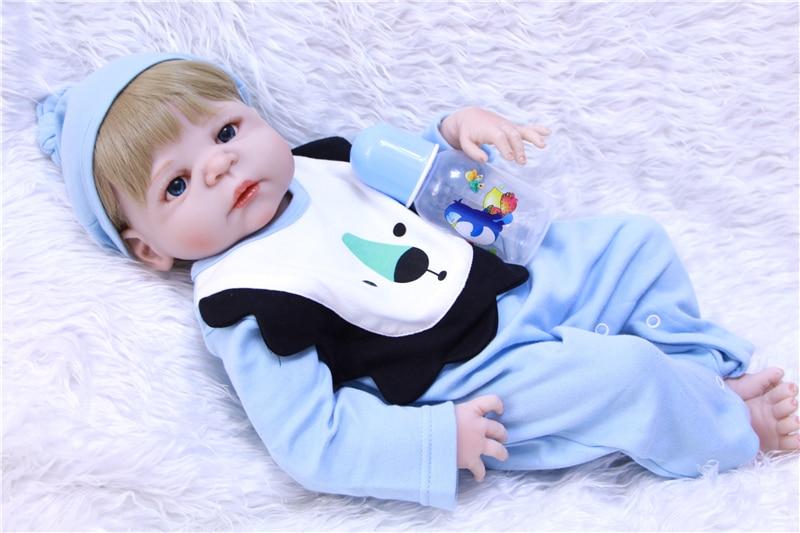 "Npk real bebes reborn menino menina bonecas de silicone real 23 ""recém-nascido bebe vivo bonecas oyuncak bebek bonecas renascer"