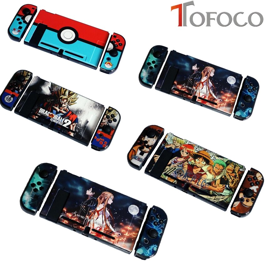 nintend switch protective shell split housing cute blue hard back cover shell ns game console case for nintendo switch accessory Colorful Pattern Hard Protective Housing Shell hard Case Cover For Nintend Switch Game Console Protector