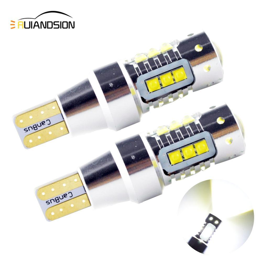 2x80w AC12-24V t15 w16w 921 915 lâmpadas led canbus livre de erros creexbd led de alta potência backup reverso turn signal luz branco