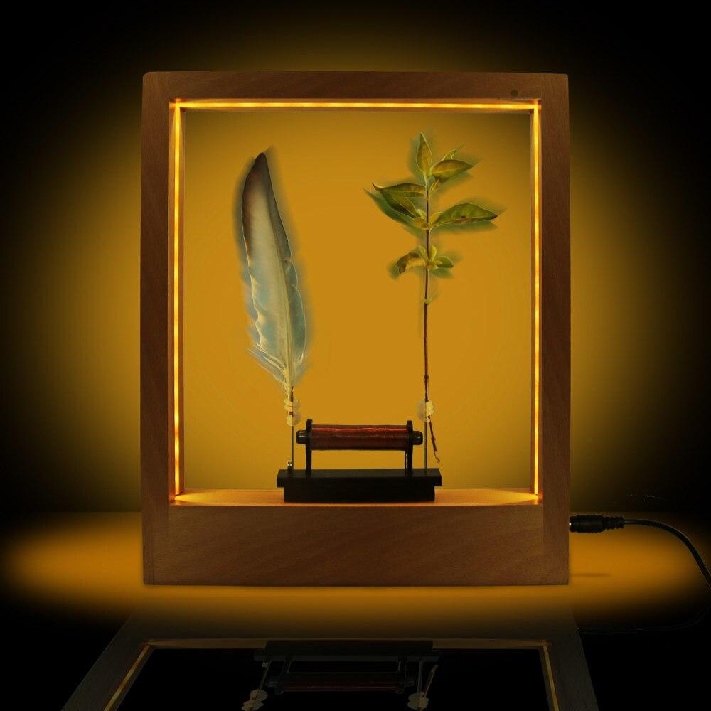 إطار LED بطيء للنحت البصري الوهمي ، صورة بطيئة الحركة ، إطار زخرفي ليلي