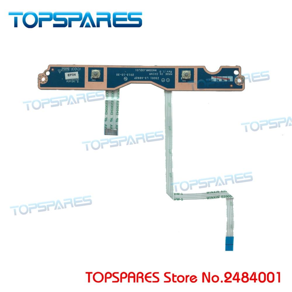 Placa de ratón para ordenador portátil, botones izquierdo y derecho con Cable, Serie de botones para HP 15-G 15-R LS-A992P
