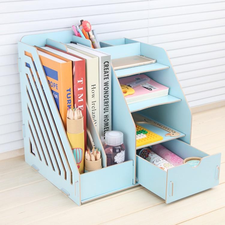 Stay Gold Wooden Storage Box  Multifunctional Bookshelf  Makeup Organizer Make Up Organizer Organizer Basket Car-styling