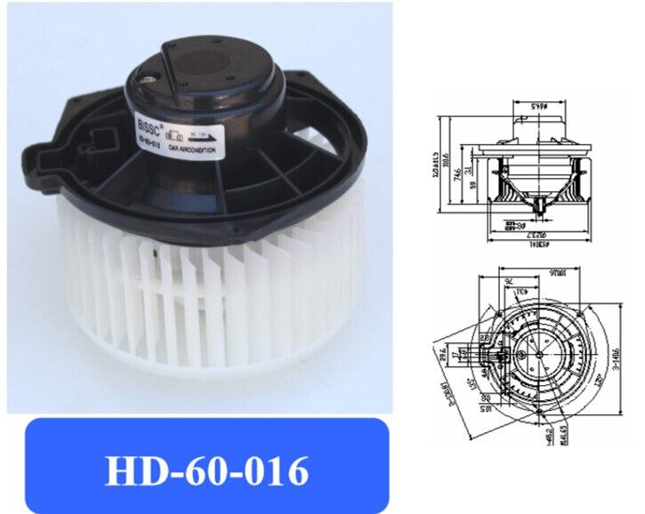 Motor de ventilador de aire acondicionado automotriz/ventilador electrónico/motor de ventilador de viajero