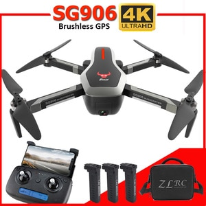SG906 Drone GPS 5G WIFI FPV RC Drone 4K Brushless Selfie Drones with Camera HD RC Quadcopter Foldable Dron VS  XS816 F11 Drone