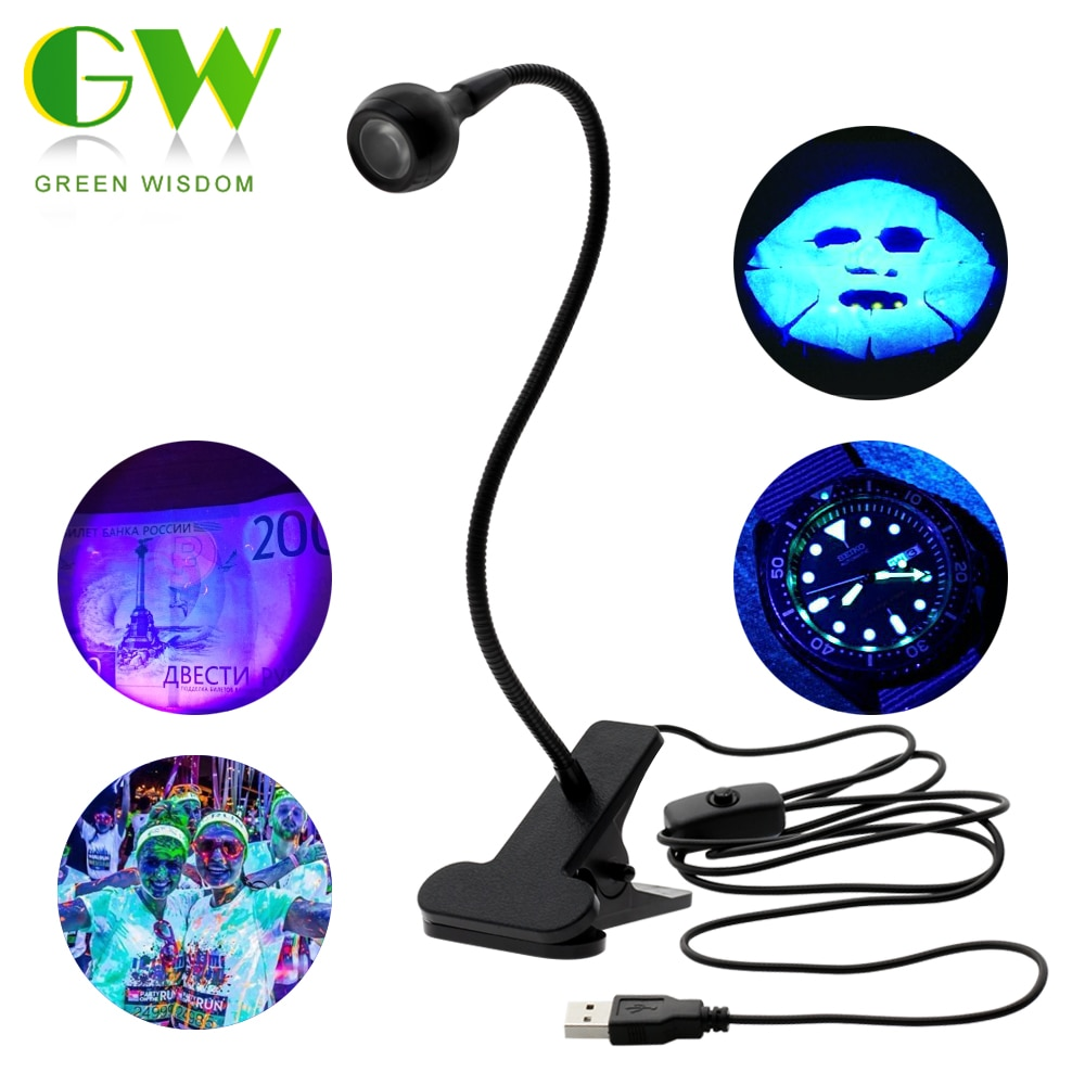 LED Ultraviolet Lights Desk Lamp USB Mini UV Gel Curing Light Nail Dryer for DIY Nail Art for Cash M