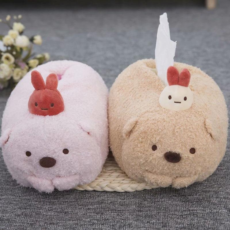 Sumikko Gurashi, toalla de tejido de felpa, juguete de Anime japonés, Animal relleno, Lindo juego de toallas de papel suave