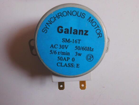 Envío Gratis SM-16T plataforma giratoria para microondas tocadiscos Motor síncrono SM16T AC30V para Galanz microondas