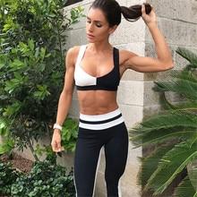 2019 mulheres quentes conjuntos de yoga colete roupas de treino de fitness correndo leggings magros topos + inferior esporte wear ternos sólidos do esporte yoga pant