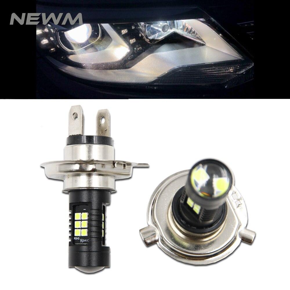 2 uds H7 H4 bombilla LED Super brillante luces antiniebla DE COCHE 12V 24V 6000K blanco 21 3030SMD conducción lámpara Auto Led H7 H4 bombillas