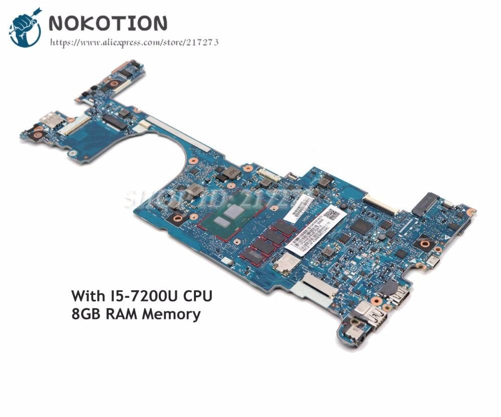 NOKOTION 917922-601 For HP EliteBook X360 1030 G2 Laptop Motherboard 6050A2848001-MB-A01 13.3 inch i5-7200U CPU 8GB RAM Memory