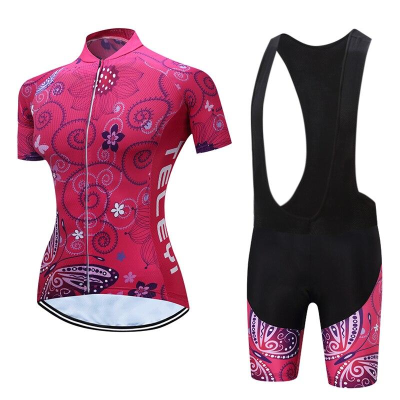 Женское Велосипедное платье TELEYI, велосипедное трикотажное платье, комплект одежды для шоссейного велосипеда, Женский костюм для триатлона,...
