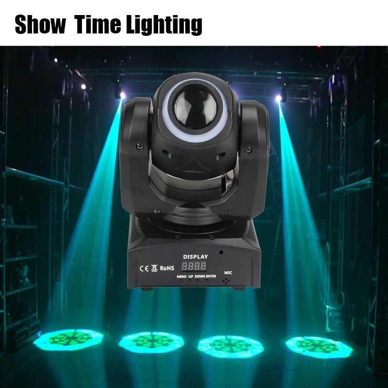 Good Quality Mini Led 30W Pattern Moving Head With Led Strip Disco Lights High Bright Handle Adjust The Image