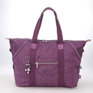Fashion Ultralight Large Capacity Women's Shoulder Bag Nylon Foldable Multifunctional Travel Tote Shoulder Bag Totes Handbag