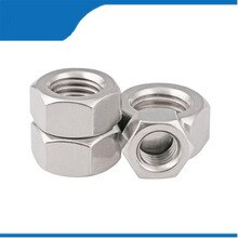 Free shipping 10Pcs M4 M5 M6 M8 DIN980 304 Stainless Steel Prevaillng Rorque TypeHexagon NutsAll Metal Nuts Locking Lock NutsHex