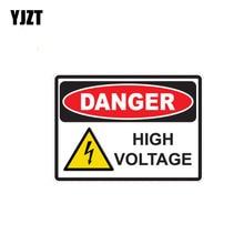 YJZT autocollant de voiture en PVC   Étiquette de voiture, 13.9CM * 10CM, Danger, autocollant haute tension créatif amusant, 12-0391