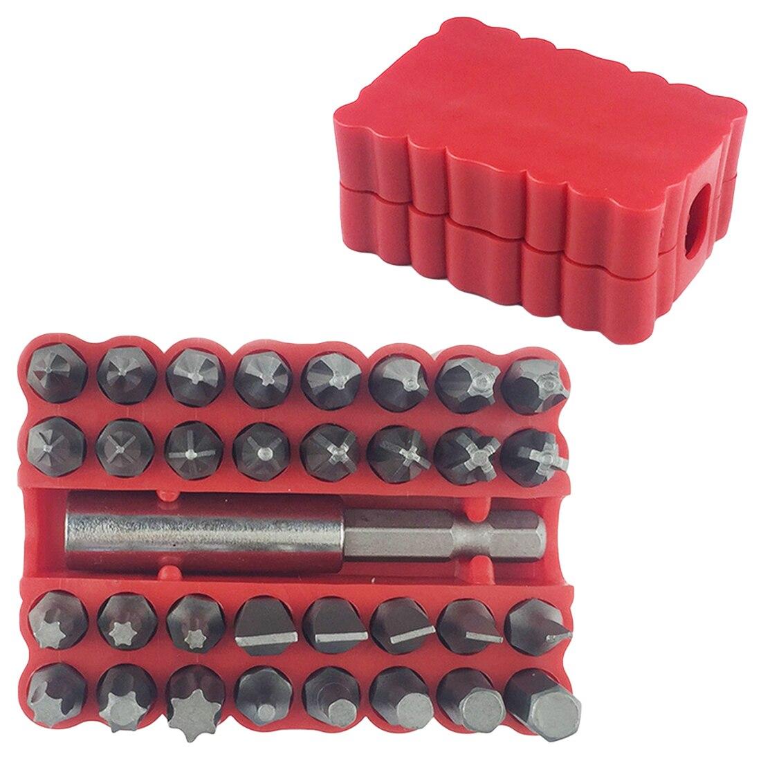 33 шт. набор защитных наконечников Torx Hex Star, гаечный ключ, отвертка, наконечник, набор ручных инструментов, хром-ванадиевая сталь