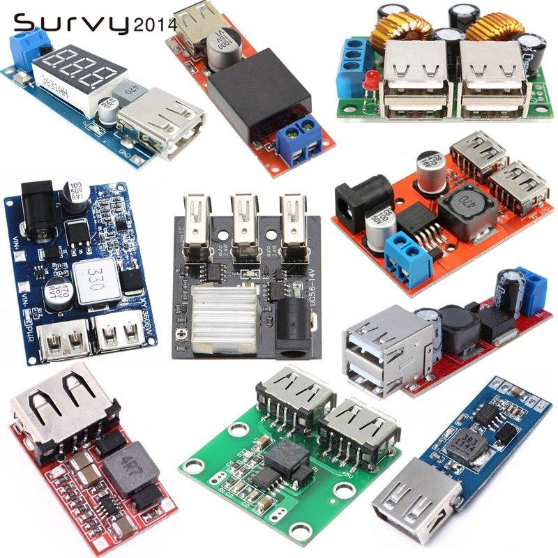 Módulo de cargador USB DC convertidor reductor módulo de fuente de alimentación