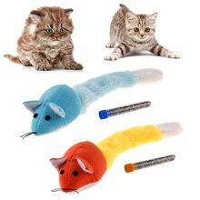 Jouets chats en peluche doux colorés   Drôles, en forme de Rat souris, chien chaton de compagnie, jeu, jouets capture, avec Tube à menthe
