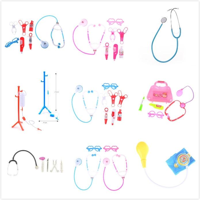 Estetoscopio portátil para niños, juego de simulación, Doctor, enfermera, juego de maletas, Kit médico, juegos de rol educativos para niños, juguetes clásicos