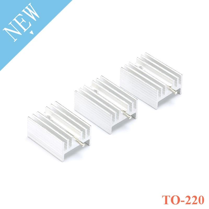 10 stücke Aluminium ZU-220 Kühlkörper ZU 220 Kühlkörper Transistor Kühler Mit Nadel Für TO220 Kühler Kühlung 21*15*10MM