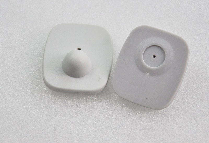 eas rf  hard tag,security tag mini square clothes tag  rf label 8.2mhz 46*42mm enlarge
