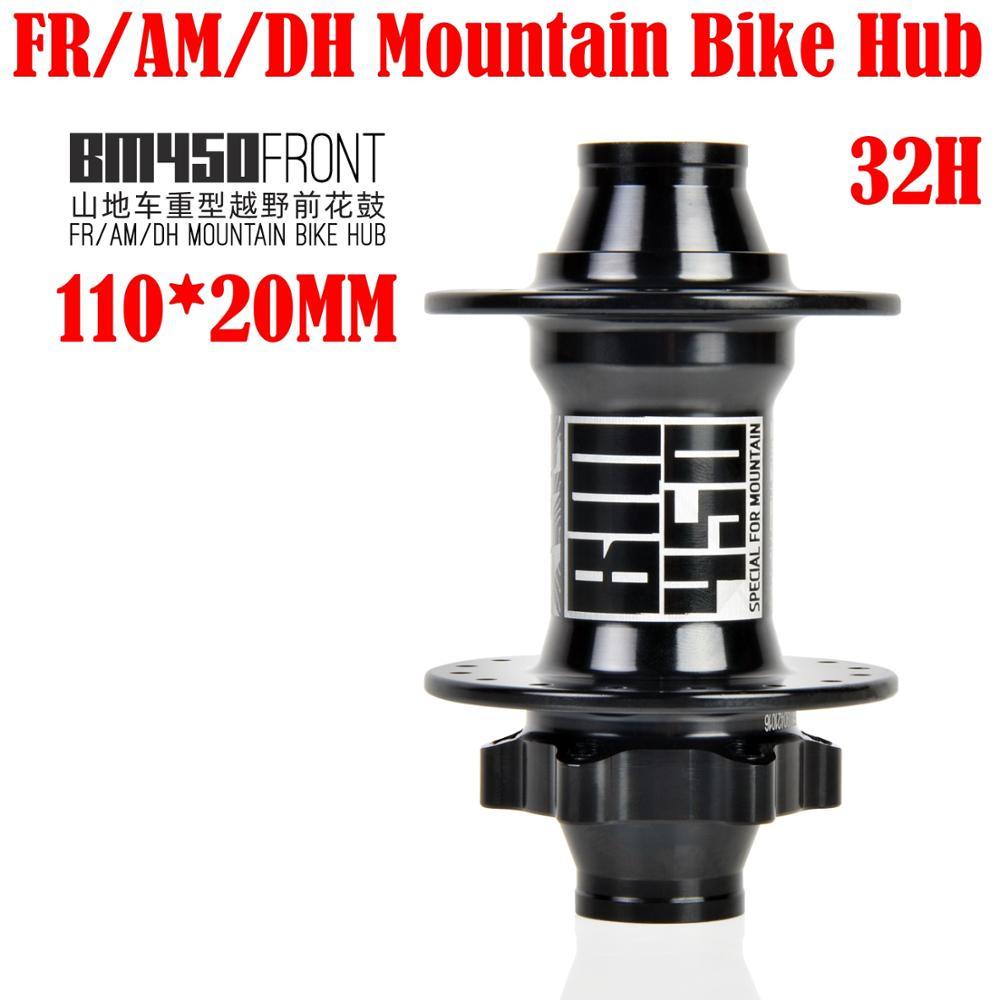 KOOZER BM450 front bicycle hub FR/AM/DH Mountain Bike Hub 110*20MM 32 hole 208g 2 sealed bearings