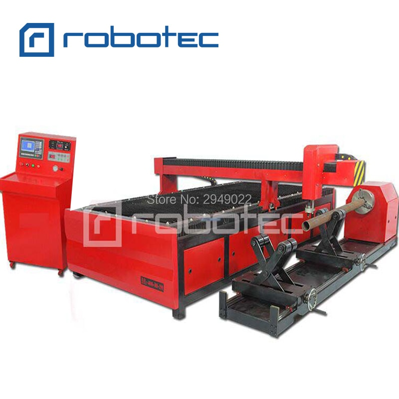 Cortadora de Plasma de metal RTP1010 1325 1530 2060/cnc cortadora de perfiles de plasma con rotación