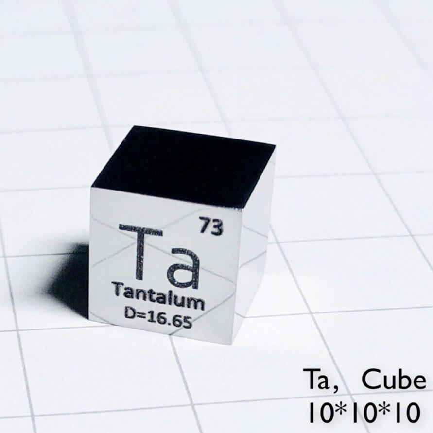 عنصر التنتالوم ، مكعب مصقول ، مرآة Ta لامعة ، مجموعة معدنية متماثلة ، تجربة علمية ، 10 × 10 × مللي متر ، تطوير الكثافة