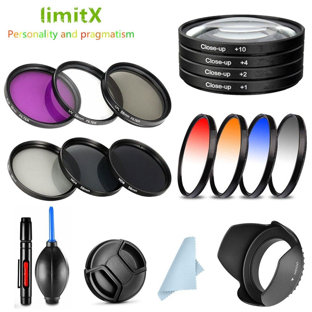 Caneta de limpeza com filtro e lente, uv cpl nd fld fechar up graduado cor & capô/tampa/caneta de limpeza para panasonic DMC-FZ70 câmera DMC-FZ72 fz70 fz72