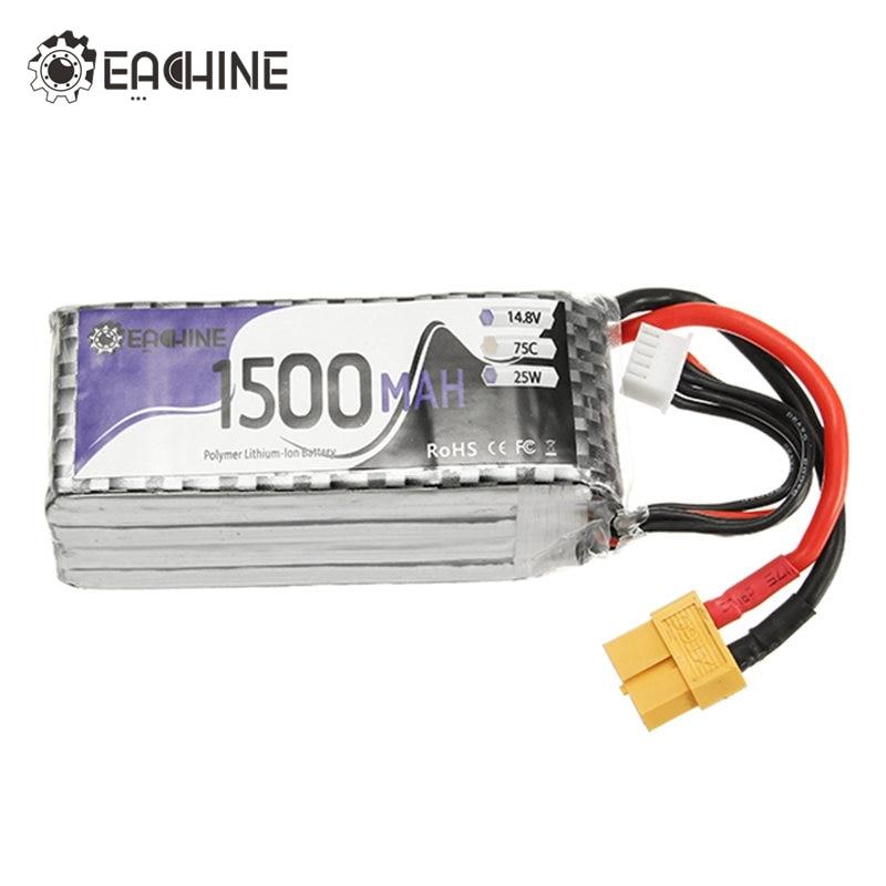 Pieza de repuesto Original Eachine Wizard X220S FPV Racer 4S 14,8 V 1500mAh 75C batería XT60 conector de clavija para accesorios de carreras RC