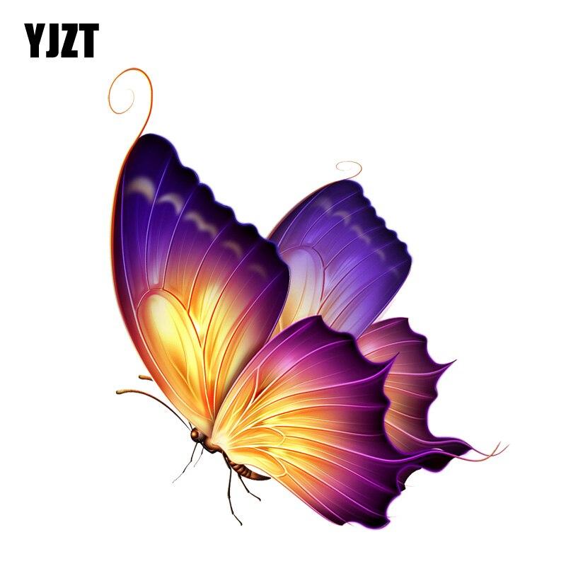 Yjzt 12.3cm * 14.5cm adesivo de borboleta, decalque de pvc para veículos e motos 11-00650