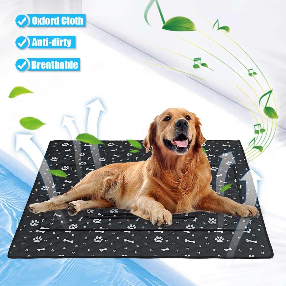 S/M/L/XL Haustier Kühlung Matte Chilly Pad Kühlung Haustier Hund Innen Sommer Kühlen Faser Bett